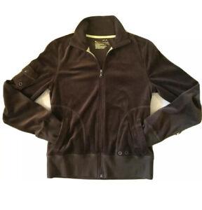 Women-039-s-Tek-Gear-Full-Zip-Mock-Neck-Fleece-Jacket-Brown-Velour-Size-S-New-W-Tag