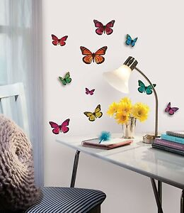 Butterflies 3d wall stickers 25 butterfly room decor for 3d wall butterfly decoration