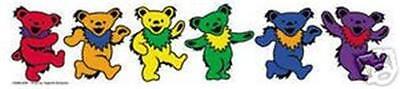 Rainbow Dancing Bears Bumper Sticker Lesbian Gay Pride Grateful Dead