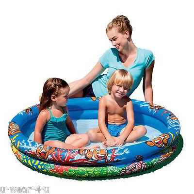 GREAT FUN CHILDREN'S SMALL PADDLING POOL SUMMER GARDEN TOYS INFLATABLE SPLASH