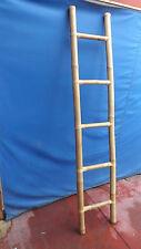 Scala in bamboo cm 200X40 etnico porta asciugamani bagno color naturale bambù