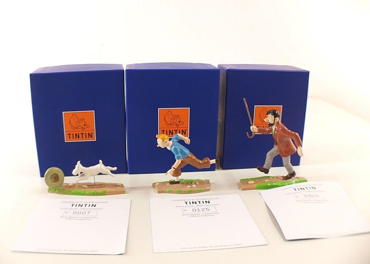 Pixi n° 46937 8 9 Haddock Tintin Milou Poursuite boite azule moulinsart Hergé