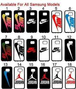 buy popular 79dc5 b6f52 Details about Nike Samsung Galaxy Case S5 S6 S6 S7 S7 EDGE S8 S8 Plus +  Note 4 3 5 Case Tpu