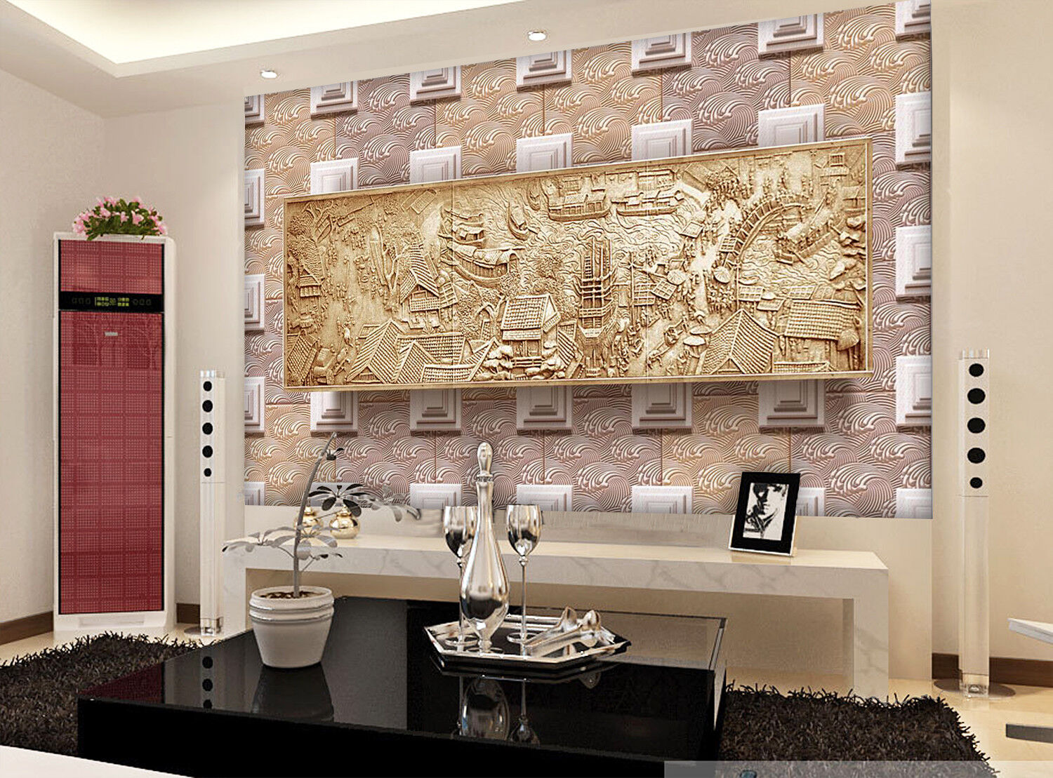 3D Gelb House 987 Wallpaper Mural Wall Print Wall Wallpaper Murals US Carly