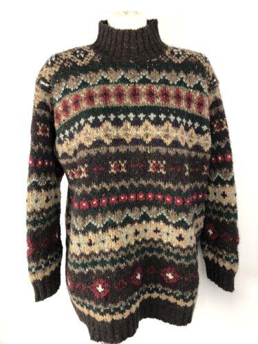 Ralph Lauren Fair Isle Wool Sweater Sz Medium Hand