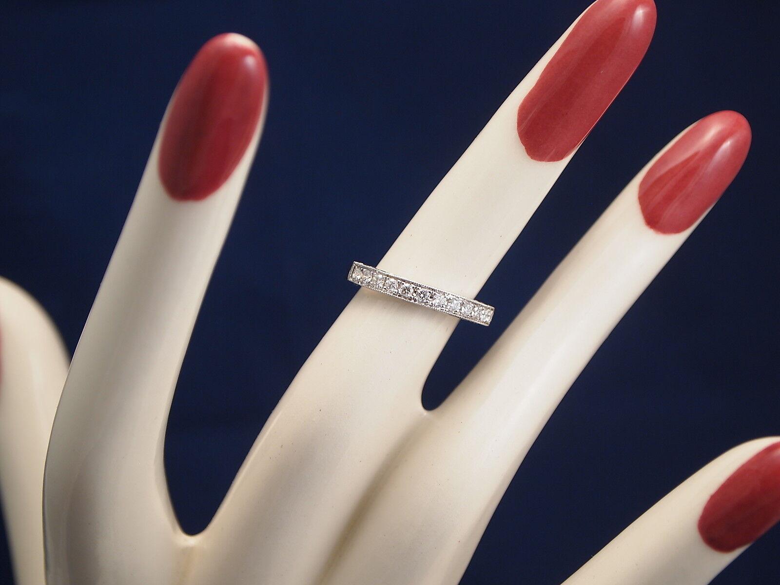 14K White gold Diamond Ring Size 4.5