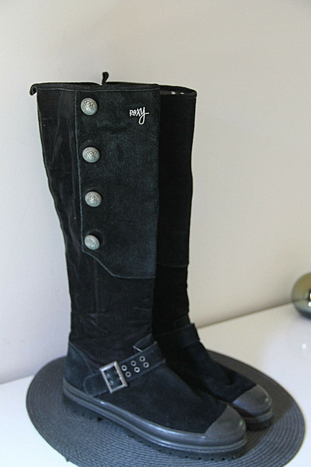 Carini stivali alte bi-materiale black ROXY taglia 38 in perfette condizioni