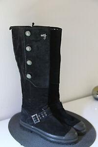 Pretty-Boots-High-Bi-Material-Black-ROXY-Size-38-IN-Perfect-Condition
