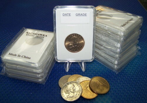 Ni.50 cents ** 26.5 mm** 100 coin holders Slab Style for Can//US Small $ and Can