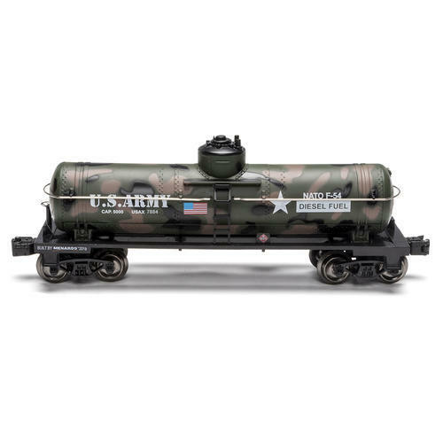 """Menards  Military US ARMY Dome Tank Car 10 1//2/"""" O Gauge MTH Lionel compatible"""