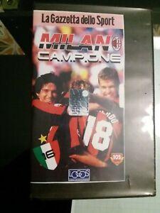 VHS-MILAN-CAMPIONE-16-SCUDETTO-ottime-condizioni