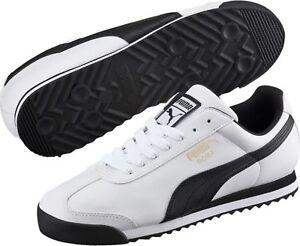 cozy fresh 274cc 5f29d Image is loading Puma-Roma-Basic-White-Black-Men-039-s-