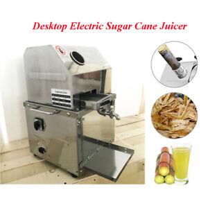 Desktop Electric Sugar Cane Juicer Machine Sweet Sorghum Stalk Press 304SS