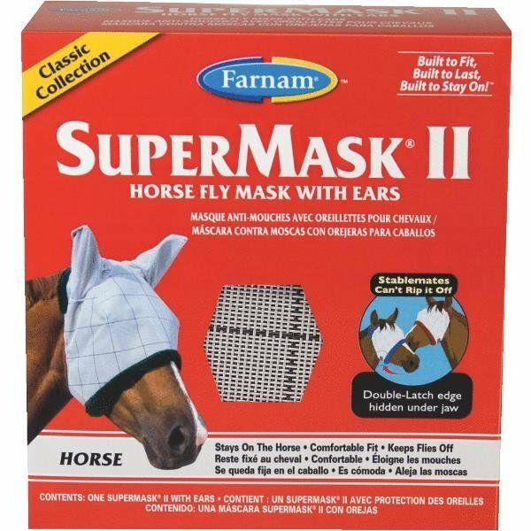 12 Pack Supermask Ii Classic Equine Caballo Fly Máscara Con Orejas 100504652