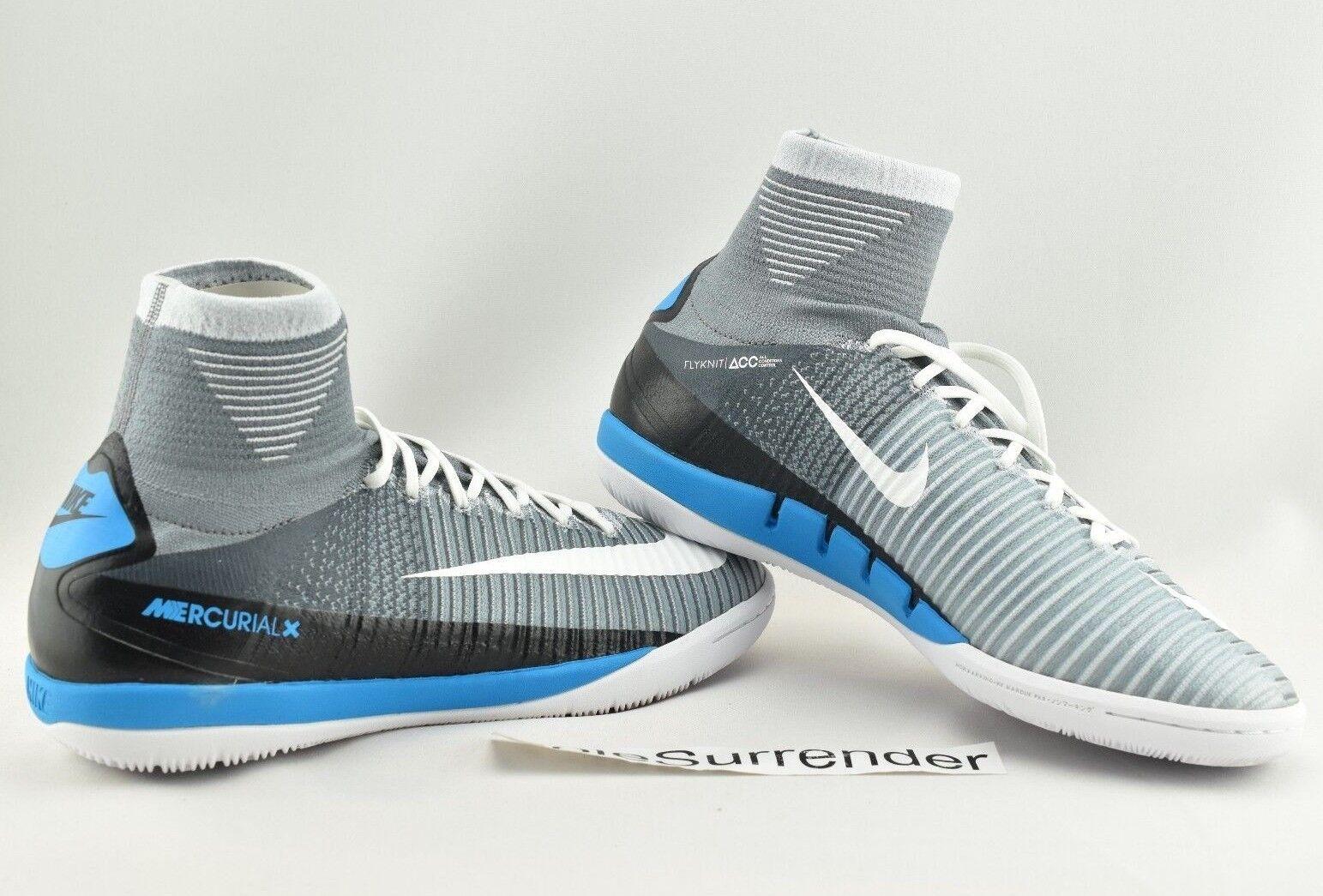 Nike MercurialX Proximo II DF IC - CHOOSE SIZE Blue  831976-010 Grey White Blue SIZE Black 6325ce