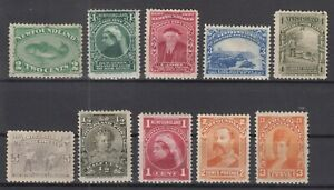 AN5416-NEWFOUNDLAND-1880-1897-MINT-CLASSIC-LOT-CV-215