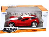 Jada Bigtime 96730 2009 Chevy Corvette Stingray Concept 1/24 Red W White Stripe
