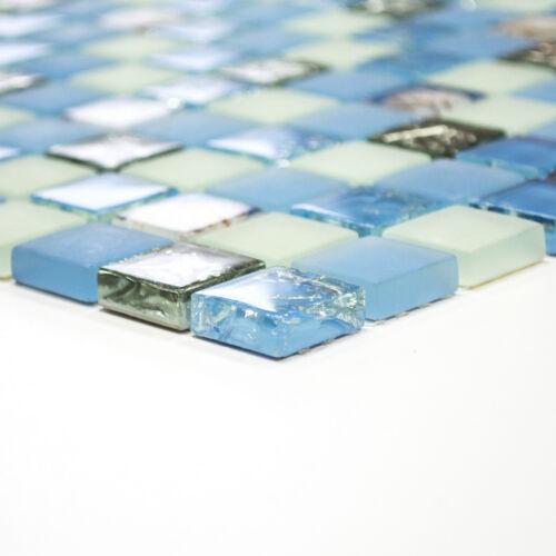 carreaux Mosaïque LUXE Glasmosaik M Nouveau ornements coquillages u bleu ou beige