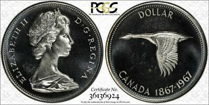 1967-CANADA-GOOSE-SILVER-1-DOLLAR-PCGS-PL65-PROOF-LIKE-COIN-IN-HIGH-GRADE