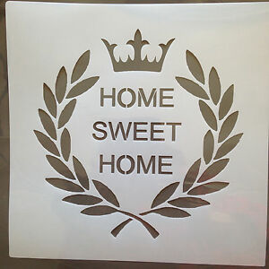 stencil Laurel Wreath Home Sweet Home, suits for shabby ...