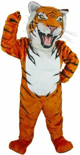 Grey tiger Professional Quality Light weight Mascot Costume suits Adults size