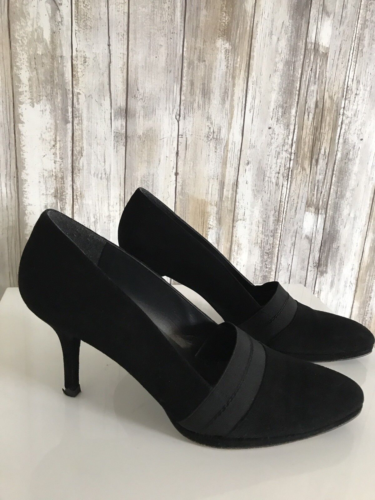 la migliore offerta del negozio online Stuart Weitzman nero Suede Elastic Elastic Elastic Pumps Heels Fall Slip On Show 10 M  comodamente