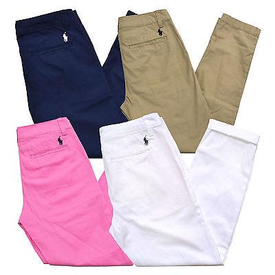 Polo Ralph Lauren Chinos Womens Pants Casual Khakis Pony Logo Pockets Nwt