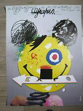 GRAPUS Affiche originale Mickey USA Topolino Communisme Capitalisme Fascisme BD