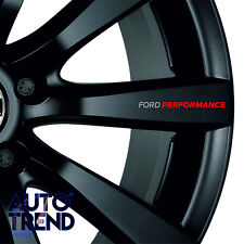 4 x FORD PERFORMANCE WHEEL Decal Sticker Badge Detail - Best Quality