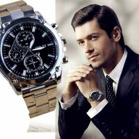 Business Herrenuhr Edelstahl Band Armbanduhr Analog Machinery Sport Quartz Watch