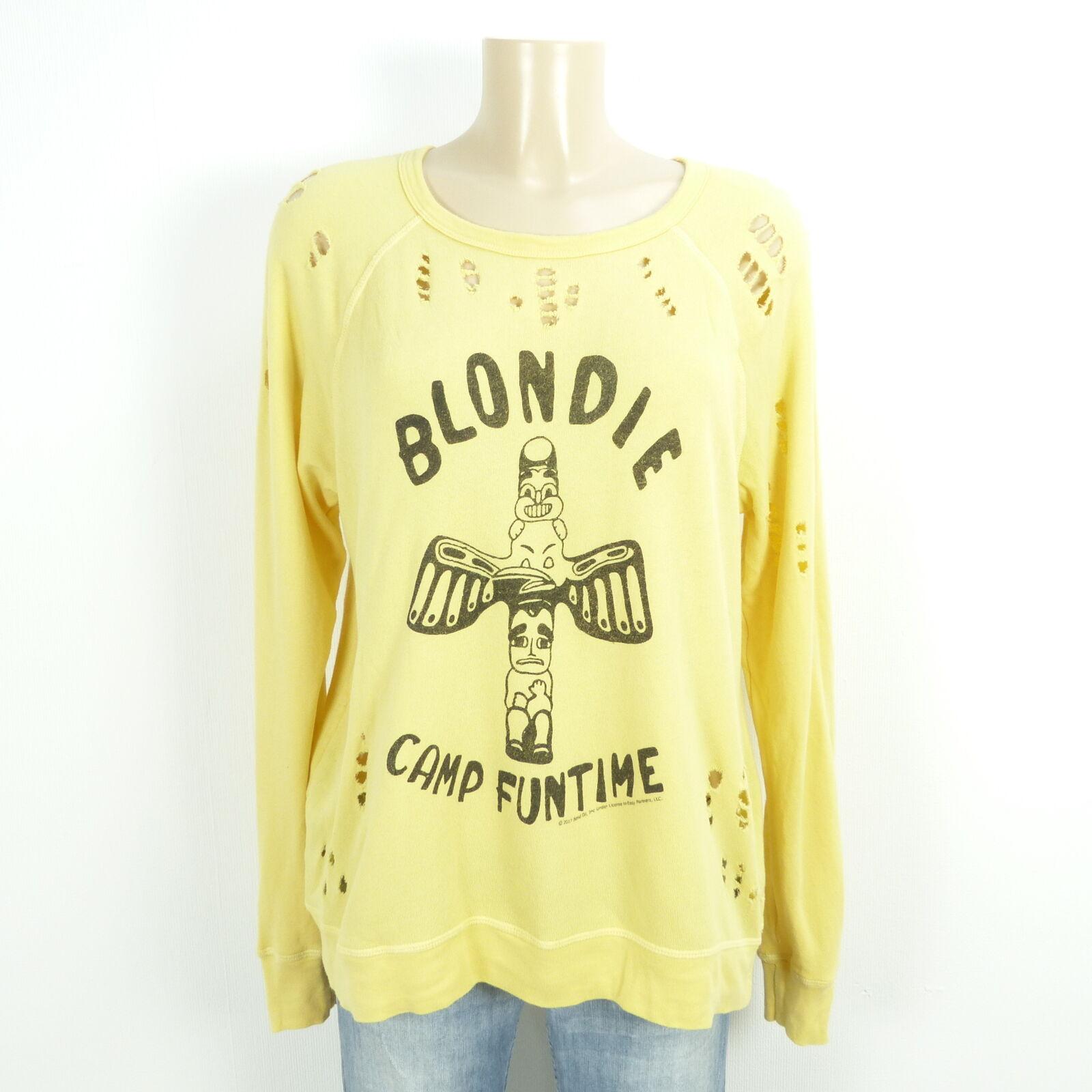 Lauren Moshi Pullover Felpa Sweater BLONDIE BLONDIE BLONDIE GIALLO TG S 36 4782d4