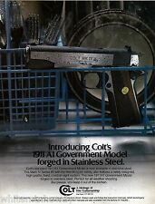 1985 COLT 1911 A1 Govermment Model PISTOL AD Collectible ADVERTISING