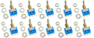 10-Stueck-Mini-6A-75VDC-MTS-102-3Pin-2Pos-On-On-Kippschalter-Switch-f-Arduino-DIY