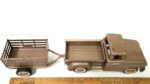 1960-TONKA-Pickup-amp-Trailer-Fenderside-Very-Good-Original-Condition