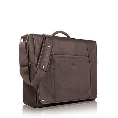 "Solo VTA502-3 Executive 16"" Laptop / MacBook Pro Leather Messenger Bag - New"