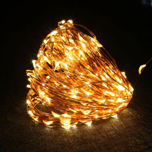 Waterproof LED Copper Wire String Fairy Lights Xmas Party Decor Remote Control