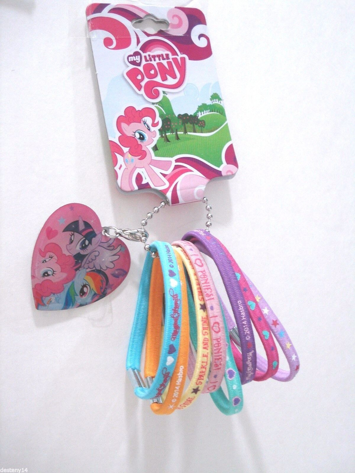 My Little Pony Hair Elastics Set Of 8 Multi Color Pony Tail Holder