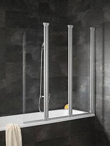 schulte badewannenaufsatz badewannenfaltwand 3 teilig echtglas komfort d1654 ebay. Black Bedroom Furniture Sets. Home Design Ideas