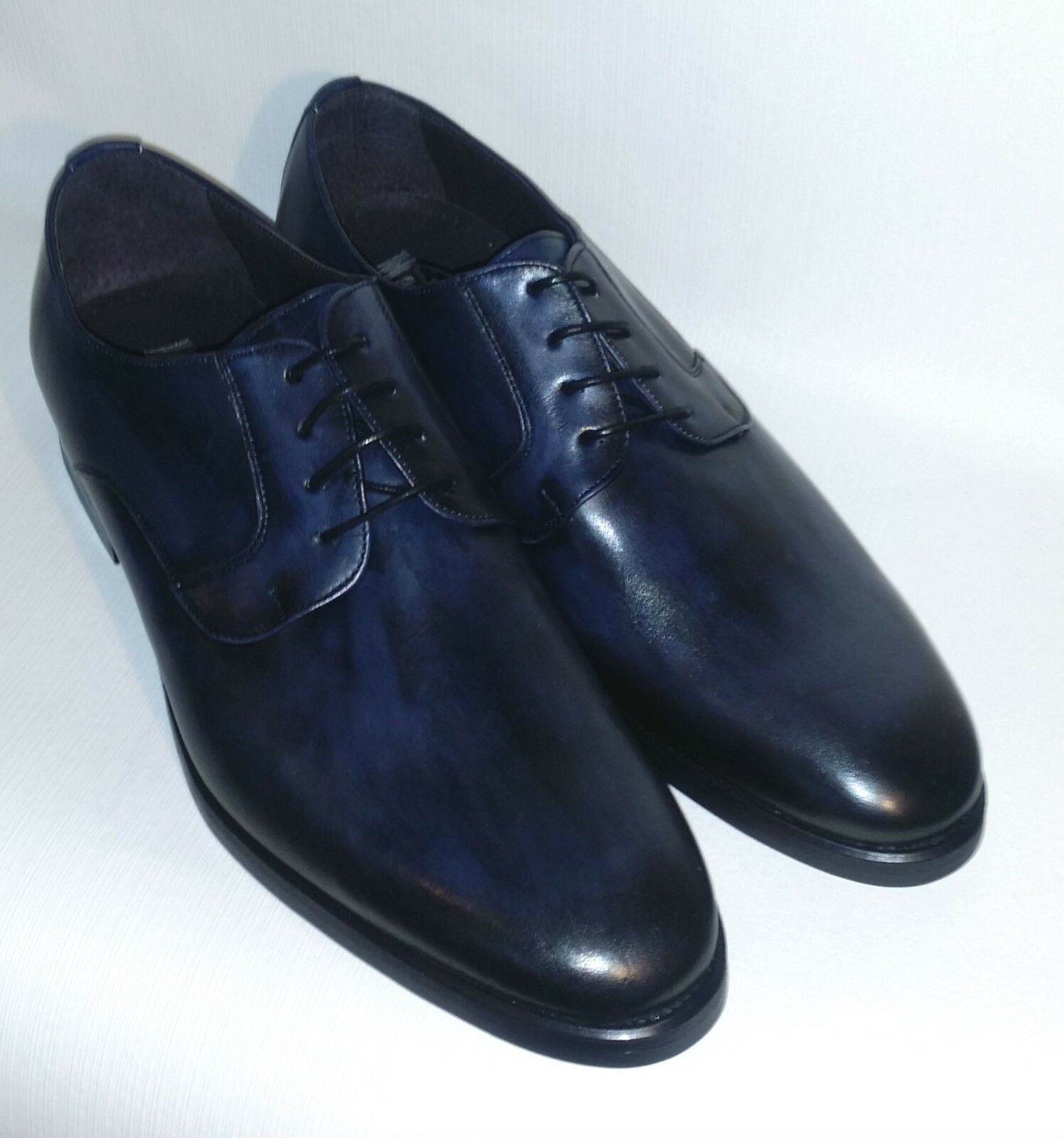 Men's Navy Blue Spanish Leather Shoes Shoes Leather c63c1a