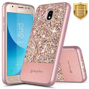 Details about For Samsung Galaxy J7 Refine/J7 Star/J7 Crown Case | Glitter  Sparkle Bling Cover