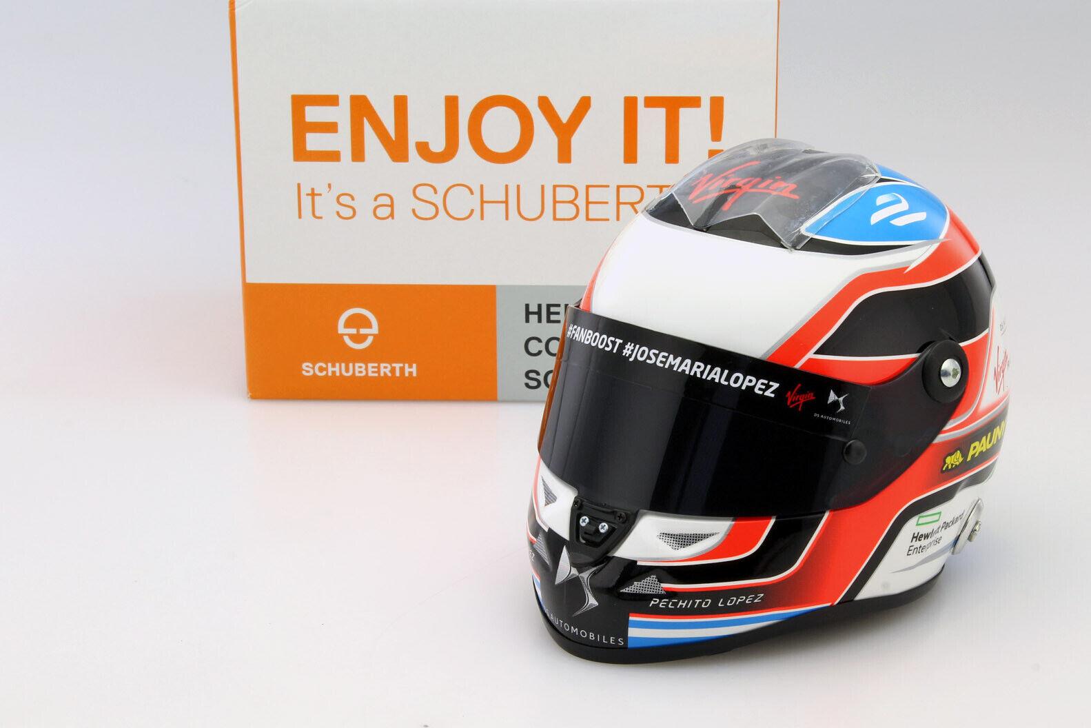Jose María Lopez DS Virgin Racing de Fórmula E 2016 casco 1 2 Schuberth