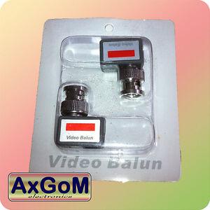 Video-Balun-Paar-Mini-Winkel-Videoubertragung-BNC-twisted-pair-CCTV