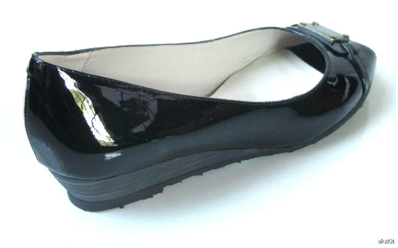 New MARC MARC MARC JACOBS black peep-toe ID logo small wedge shoes ecd2cf