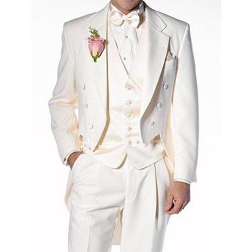 Hommes Tailcoat Beige Costume Groom Formelle Mariage Costume 3 Mesure De Sur Blazer De Tuxedo Piece qqBprx5g