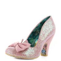 Womens Irregular Choice Nick Of Time Pink High Heel Court Shoes Sz Size