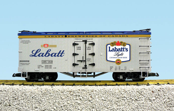 USA Trains Escala G R16033A de luz de cerveza Labatt argento blu