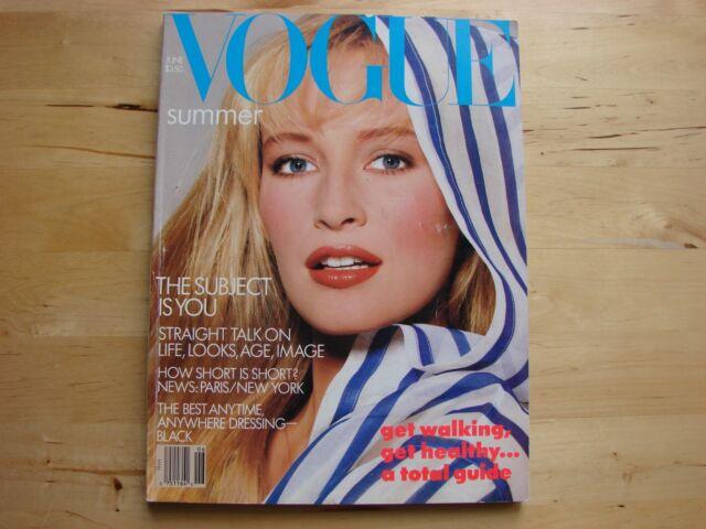 Vintage VOGUE Magazine ~ June 1987 ~ Estelle LeFebure ~ Excellent Fashion Issue