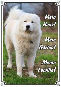 Panneau d'avertissement Cane Da Pastore - écusson chien chien de berger des Abruzzes