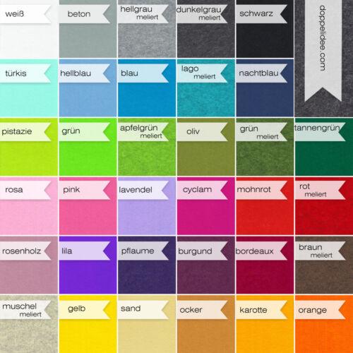 HERZ FILZ Untersetzer Tassenuntersetzer Platzmatte   34 Farben 8-12-15-25 cm