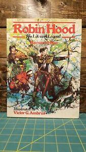 Robin-Hood-His-Life-and-Legend-by-Bernard-Miles-1979-HC-DJ-Victor-Ambrus